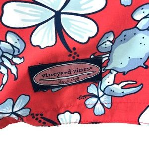 Vineyard Vines Swim - Vineyard Vines Swim Trunks Crab Floral Print Large